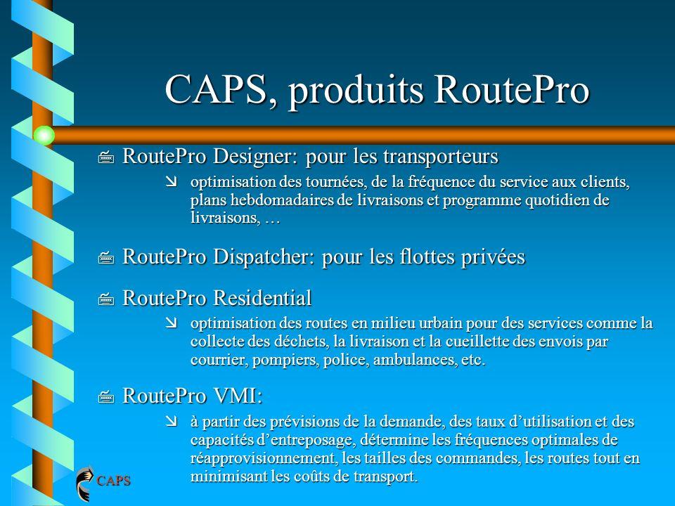 CAPS, produits RoutePro