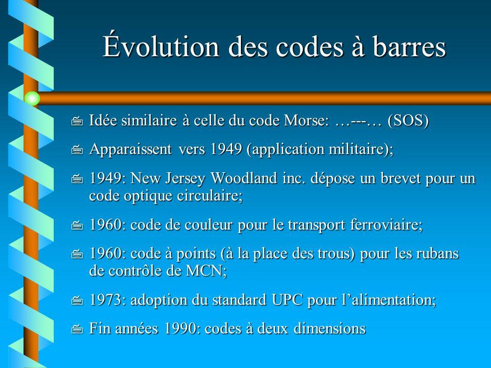 Évolution des codes à barres