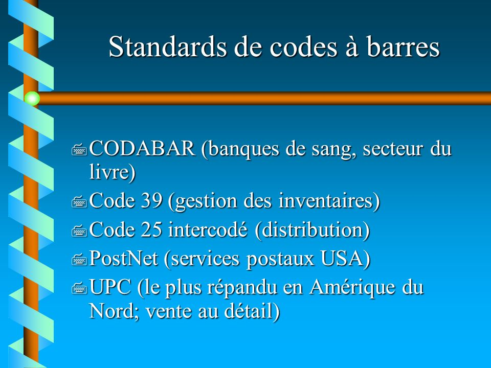 Standards de codes à barres