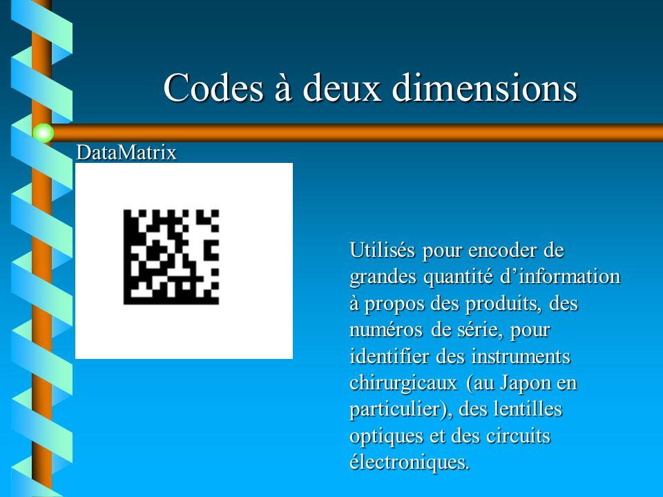 Codes à deux dimensions