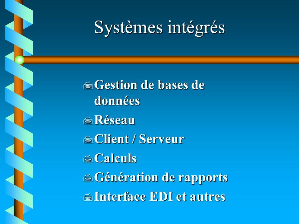 Systèmes intégrés Gestion de bases de données Réseau Client / Serveur
