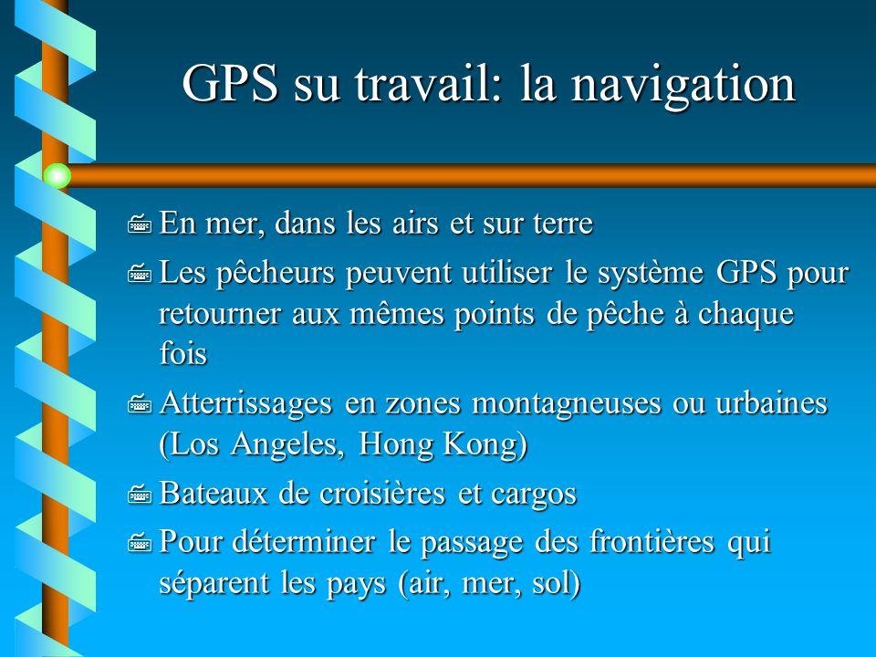 GPS su travail: la navigation