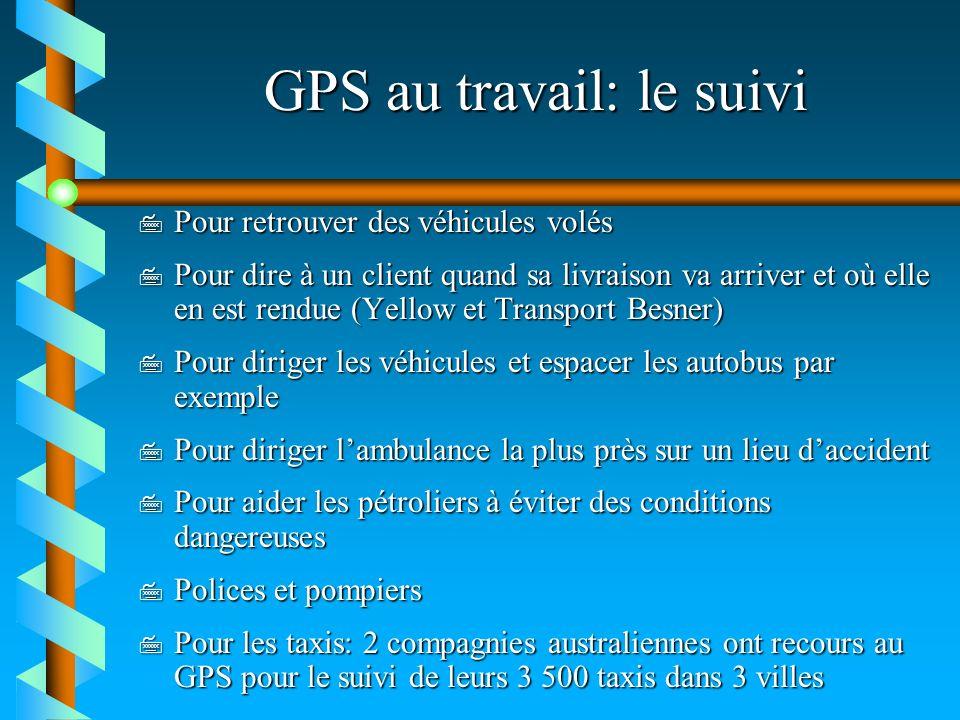 GPS au travail: le suivi