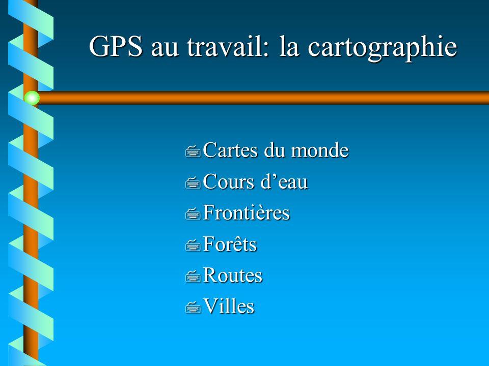 GPS au travail: la cartographie