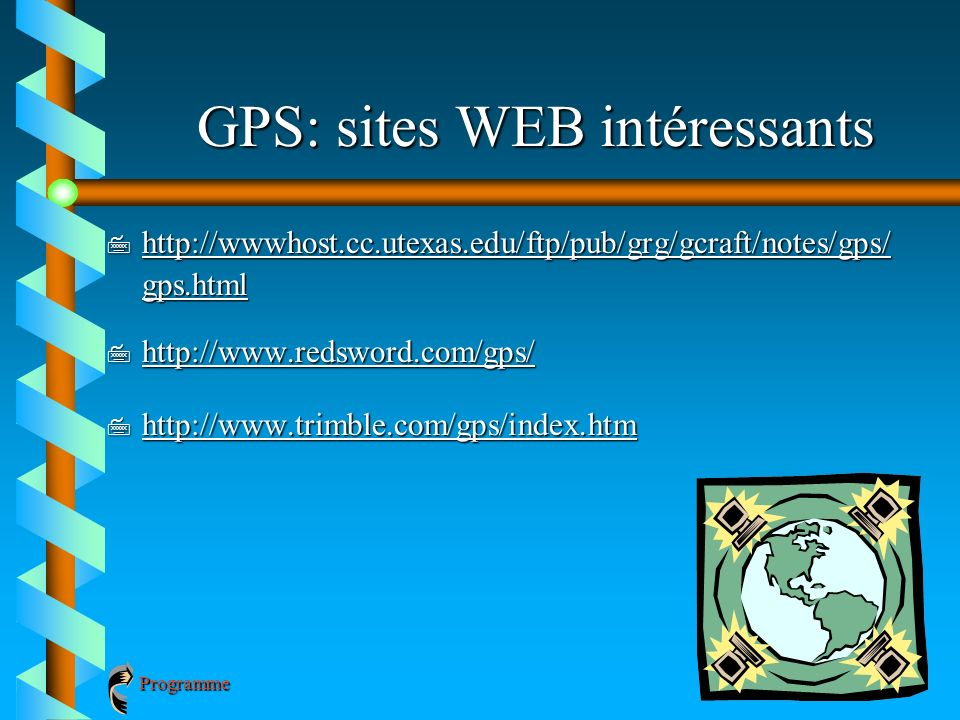 GPS: sites WEB intéressants