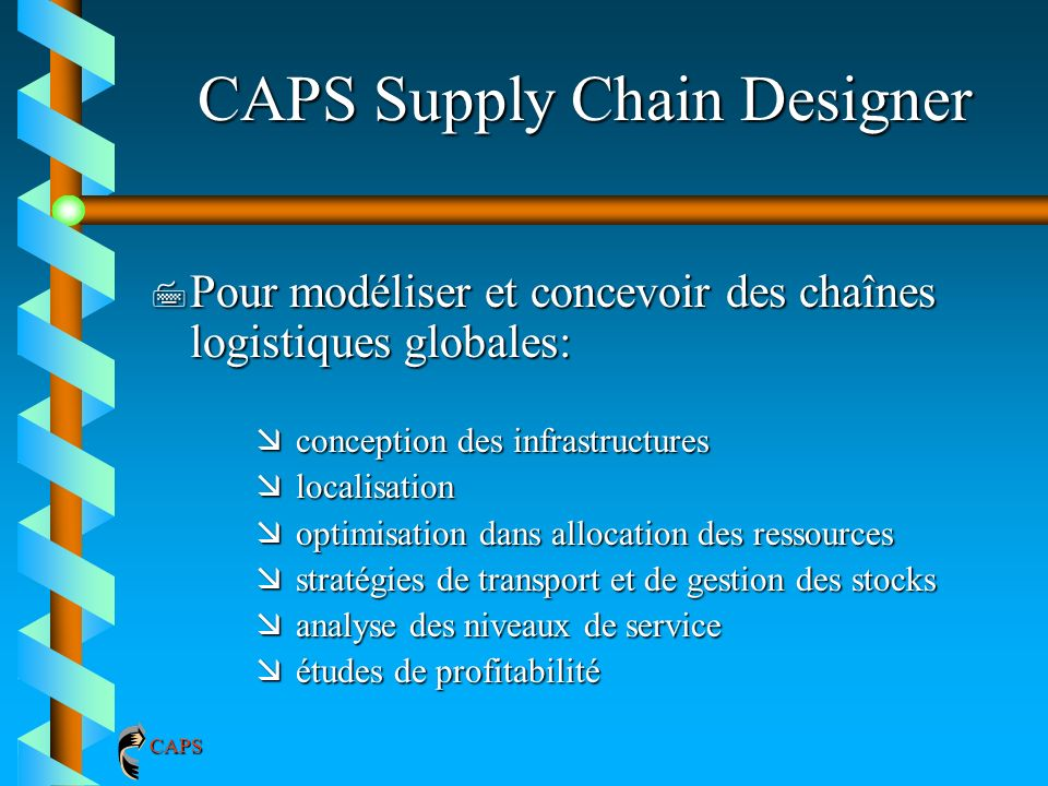 CAPS Supply Chain Designer