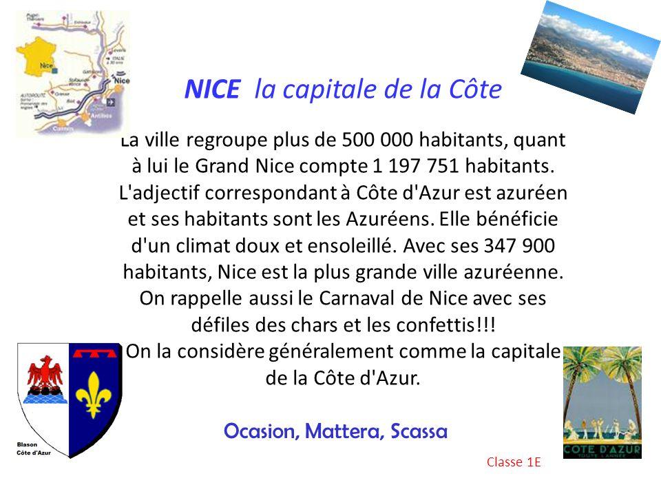 NICE la capitale de la Côte