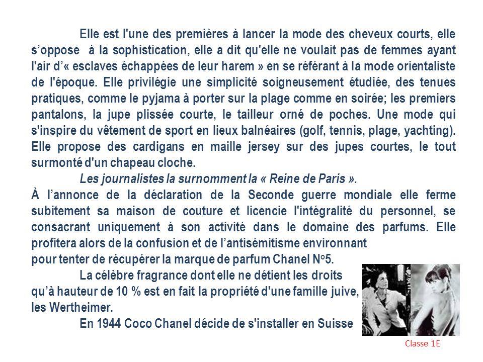 Les journalistes la surnomment la « Reine de Paris ».