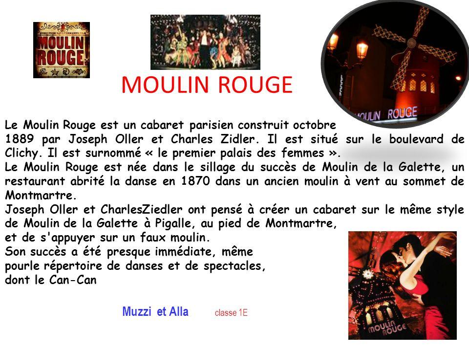 MOULIN ROUGE Muzzi et Alla classe 1E
