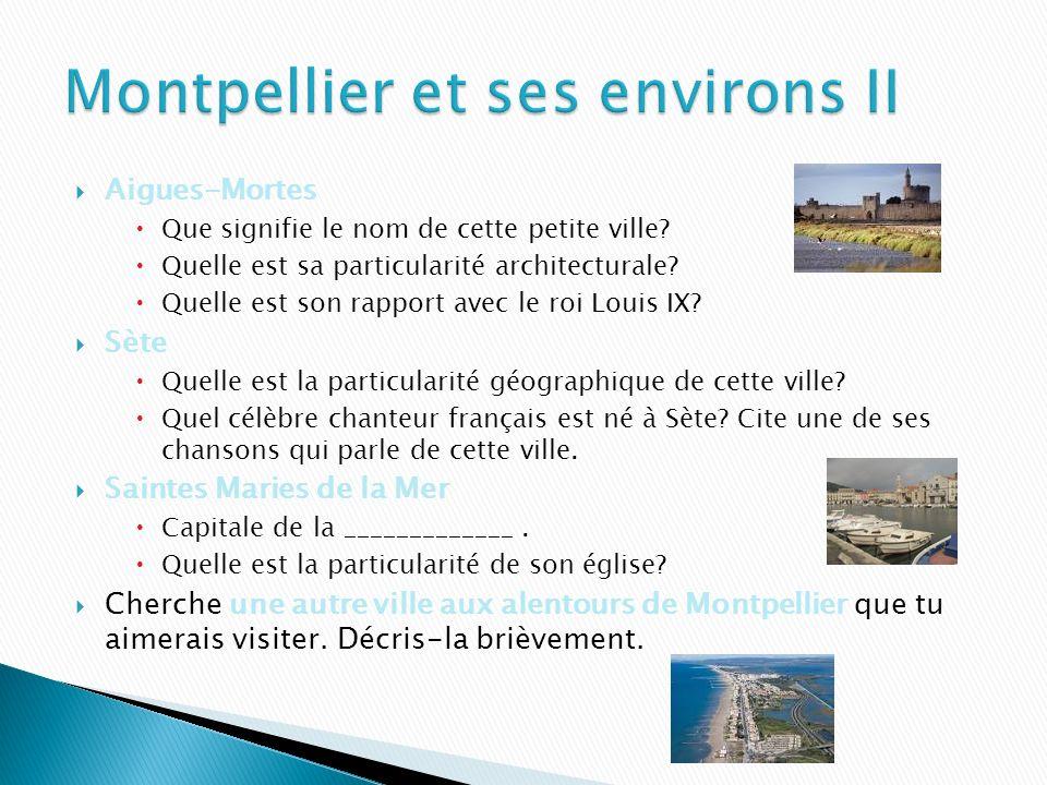 Montpellier et ses environs II