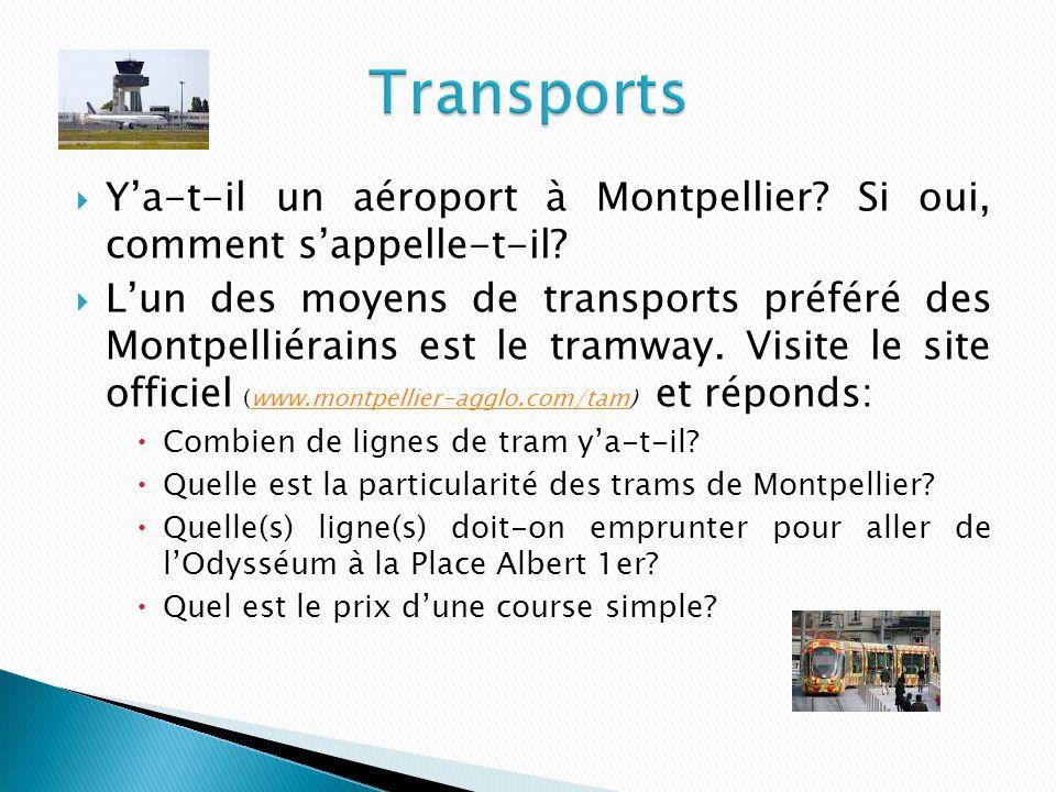 Transports Y'a-t-il un aéroport à Montpellier Si oui, comment s'appelle-t-il