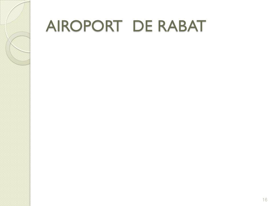 AIROPORT DE RABAT