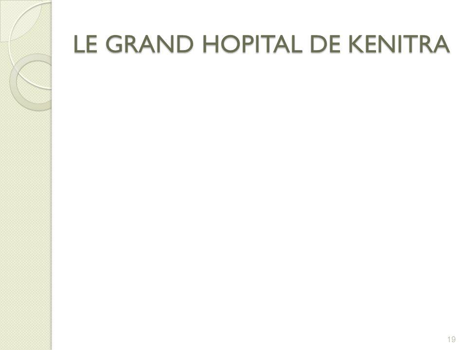 LE GRAND HOPITAL DE KENITRA