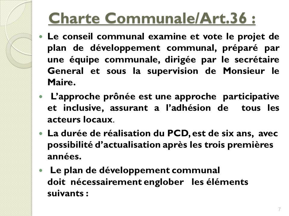 Charte Communale/Art.36 :