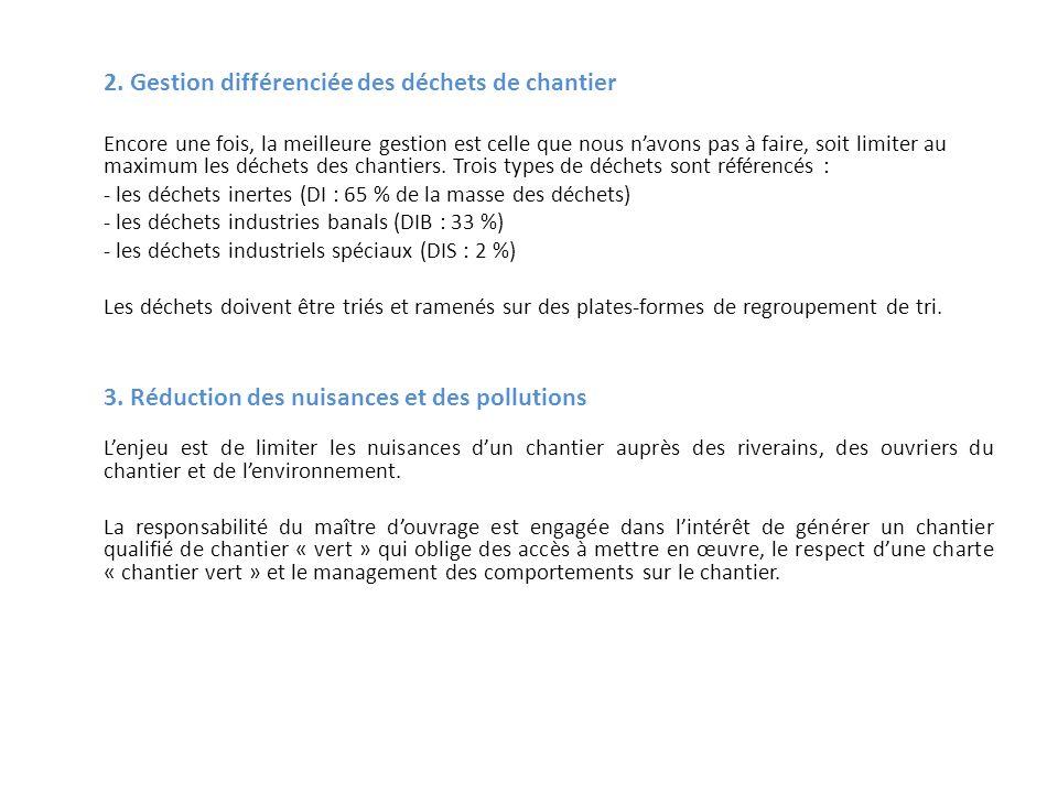 3. Réduction des nuisances et des pollutions
