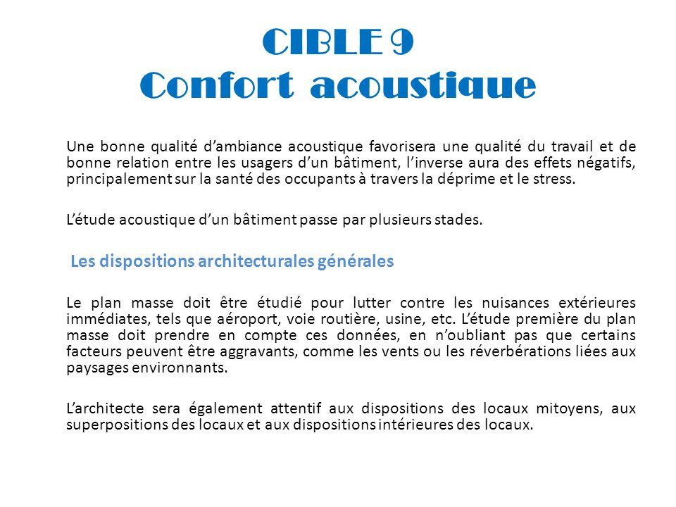 CIBLE 9 Confort acoustique