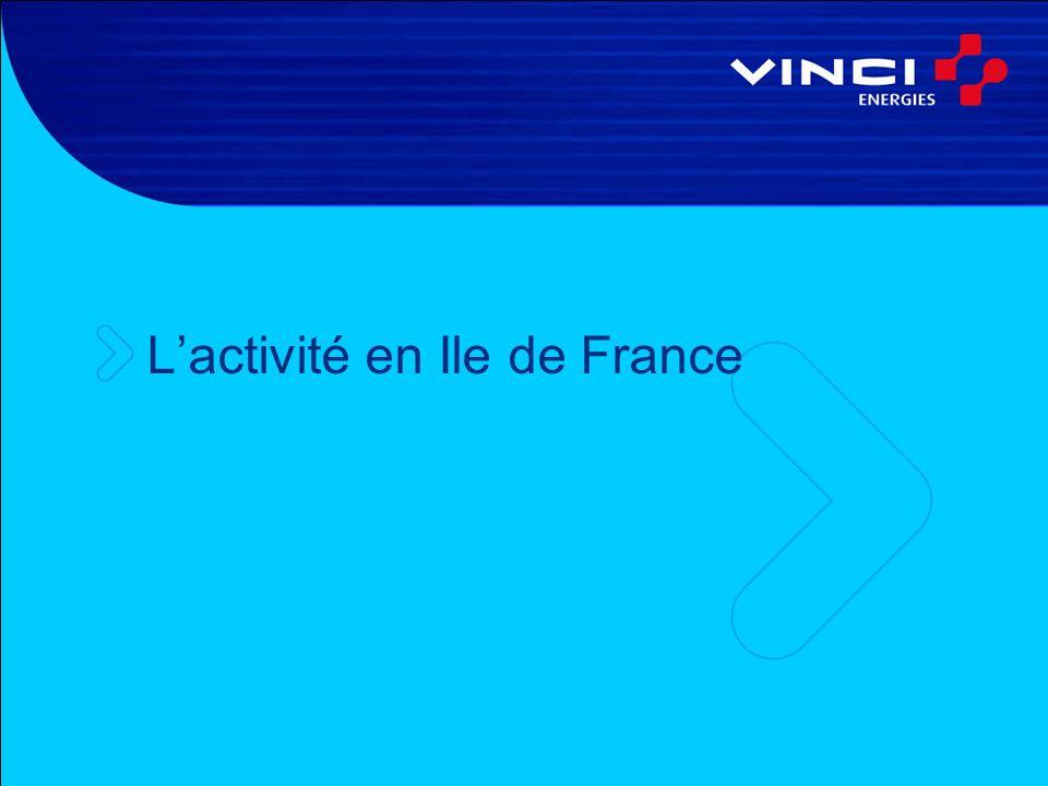 L'activité en Ile de France