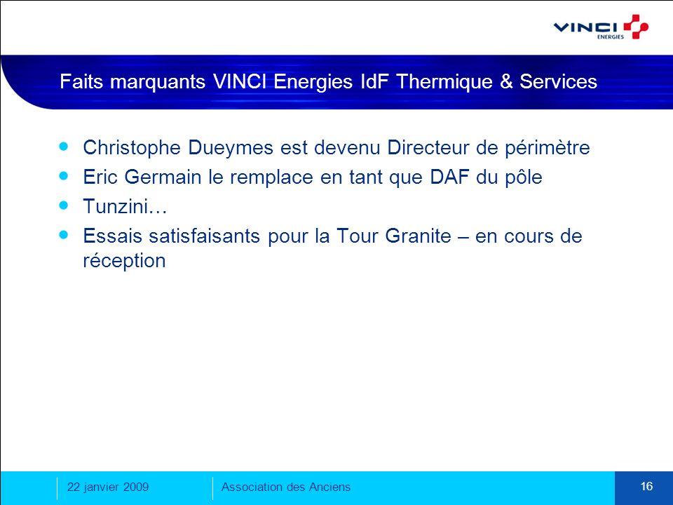 Faits marquants VINCI Energies IdF Thermique & Services