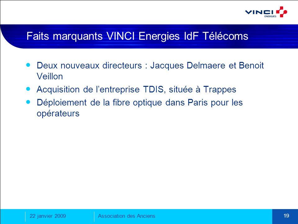 Faits marquants VINCI Energies IdF Télécoms