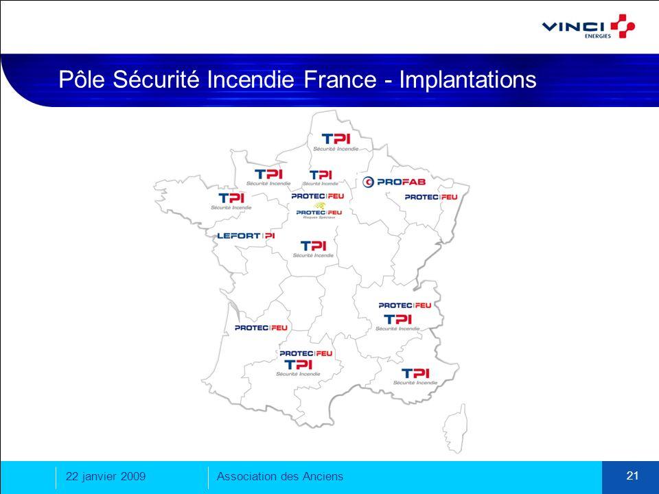 Pôle Sécurité Incendie France - Implantations