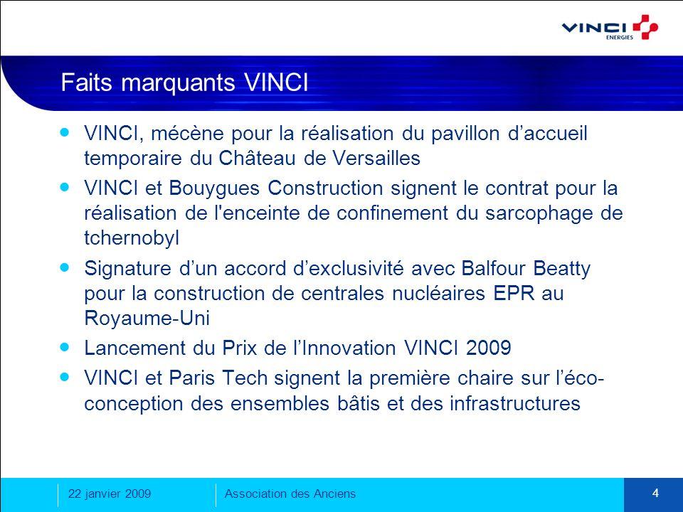 Faits marquants VINCI VINCI, mécène pour la réalisation du pavillon d'accueil temporaire du Château de Versailles.