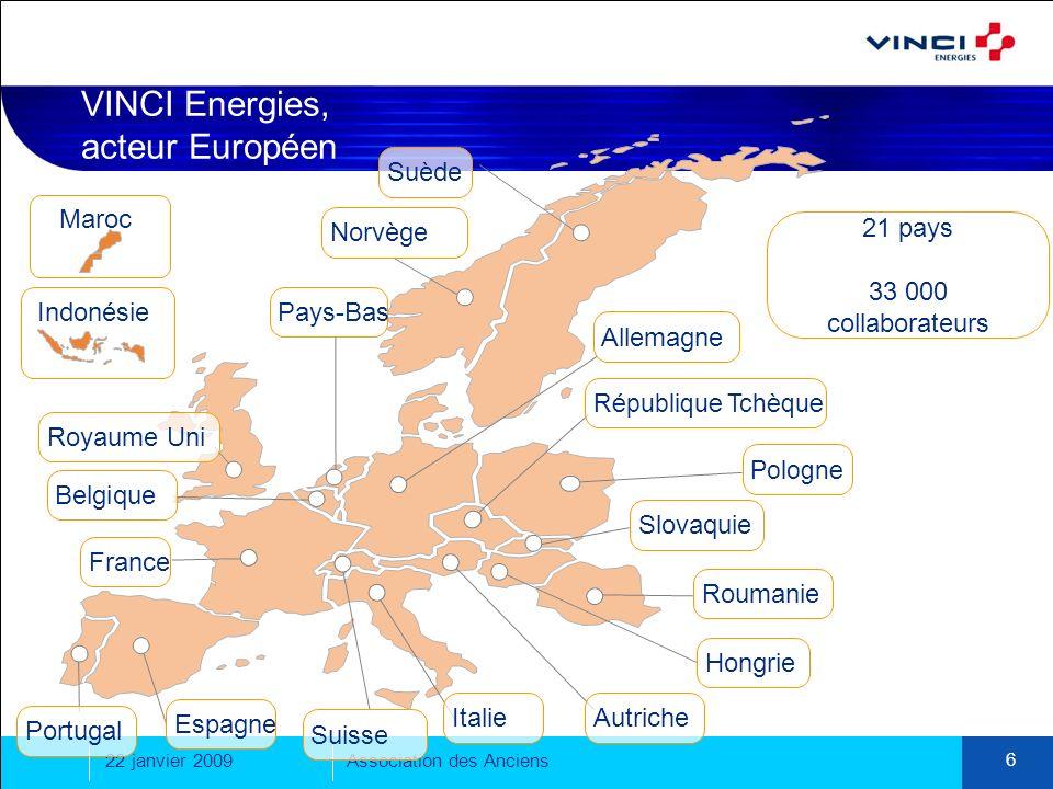 VINCI Energies, acteur Européen