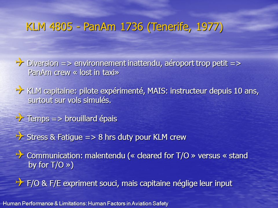 KLM 4805 - PanAm 1736 (Tenerife, 1977)
