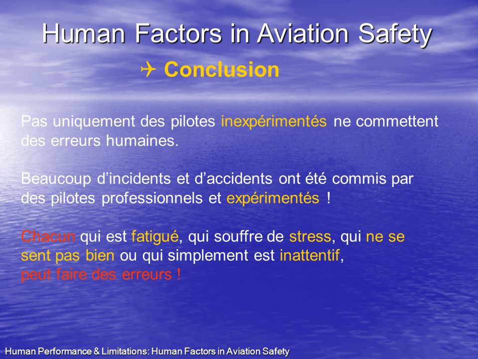 Human Factors in Aviation Safety