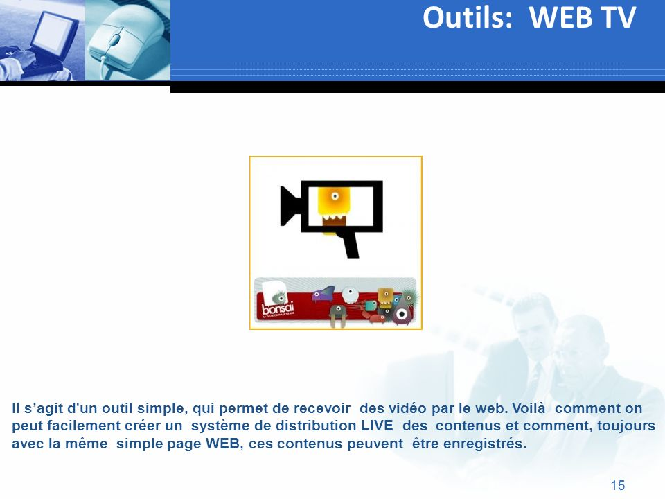 Outils: WEB TV Text.