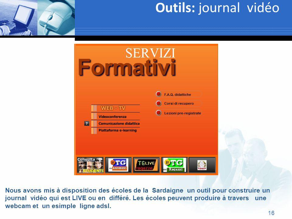 Outils: journal vidéo Text