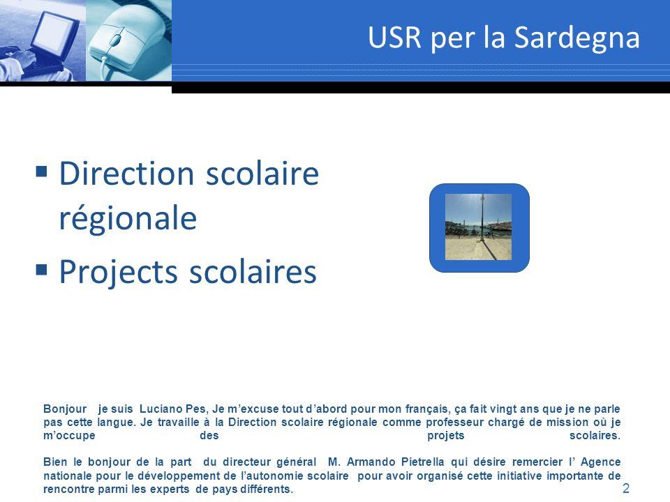 Direction scolaire régionale Projects scolaires