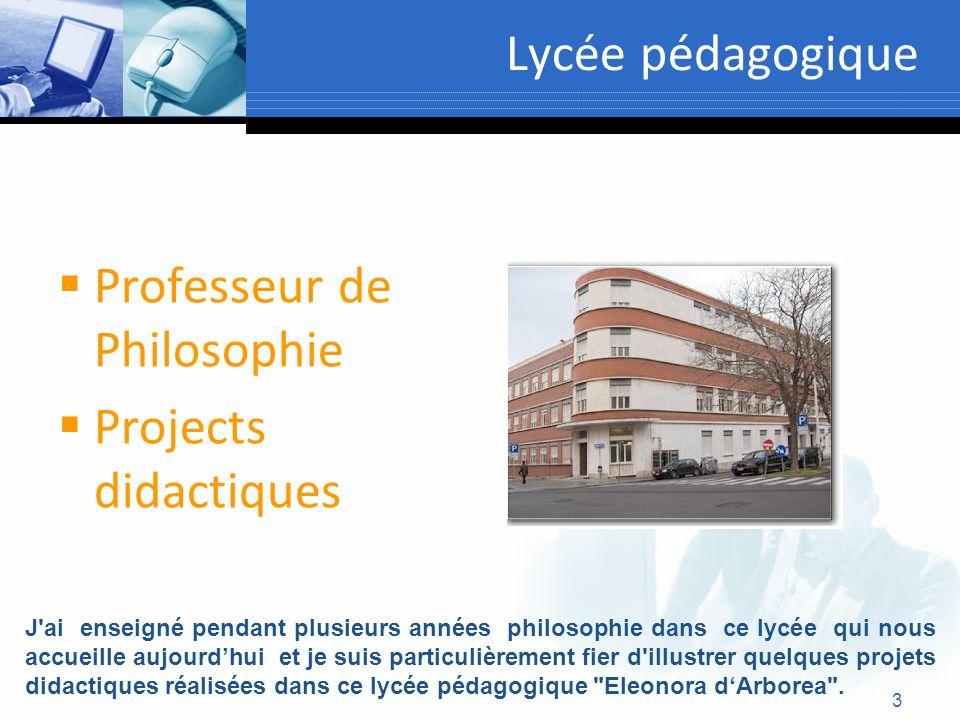 Professeur de Philosophie Projects didactiques
