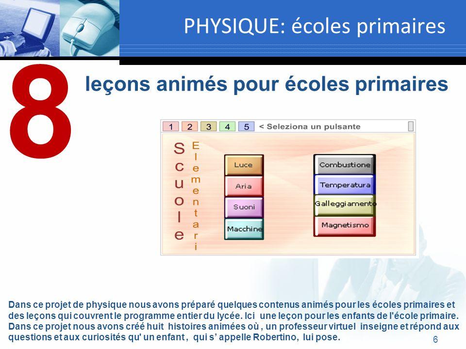 PHYSIQUE: écoles primaires