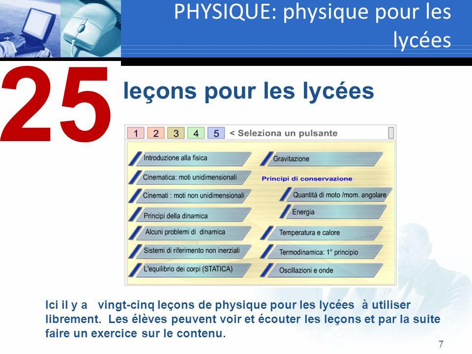 PHYSIQUE: physique pour les lycées