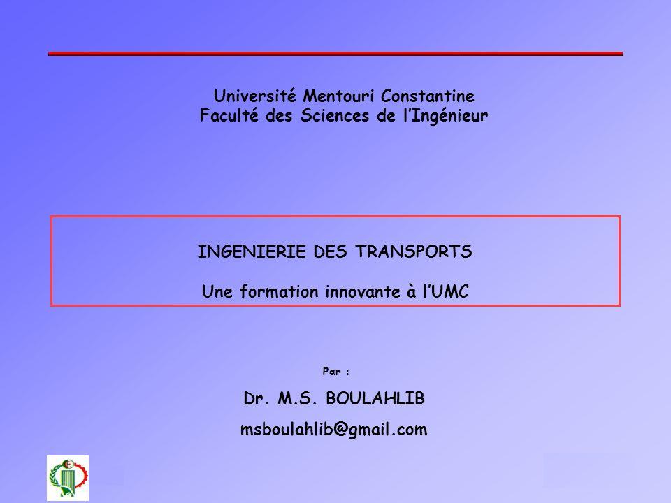 Université Mentouri Constantine Faculté des Sciences de l'Ingénieur