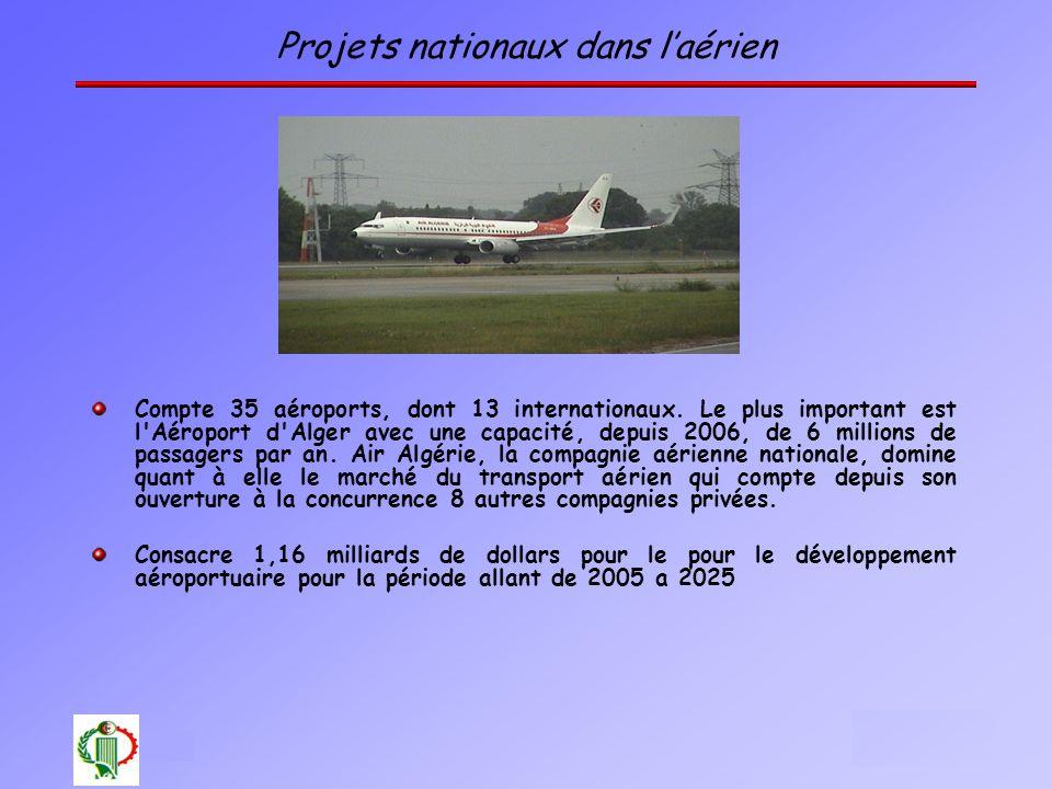 Projets nationaux dans l'aérien
