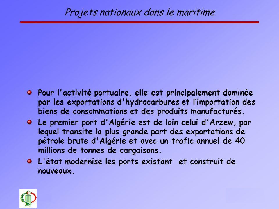 Projets nationaux dans le maritime