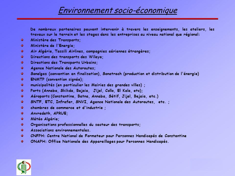 Environnement socio-économique