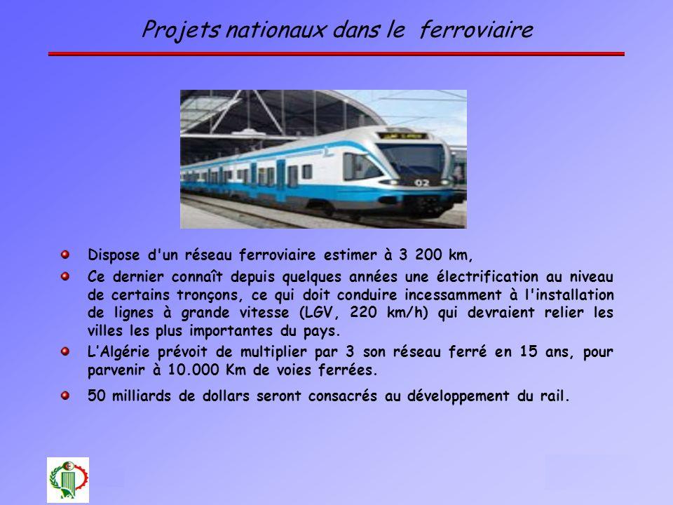 Projets nationaux dans le ferroviaire