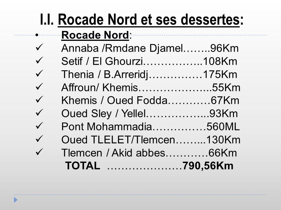 I.I. Rocade Nord et ses dessertes: