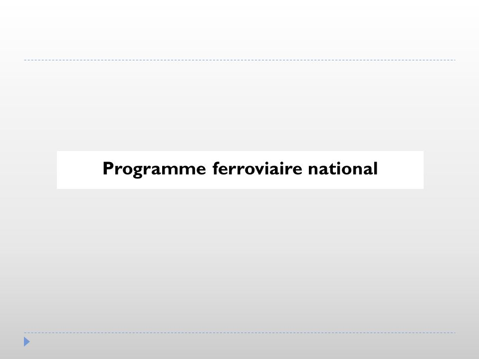 Programme ferroviaire national