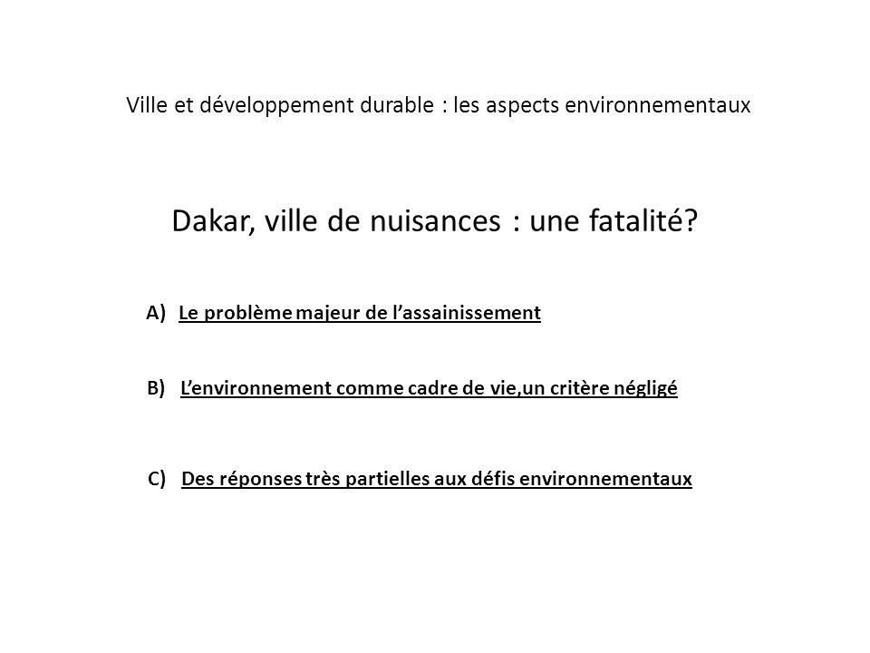 Dakar, ville de nuisances : une fatalité