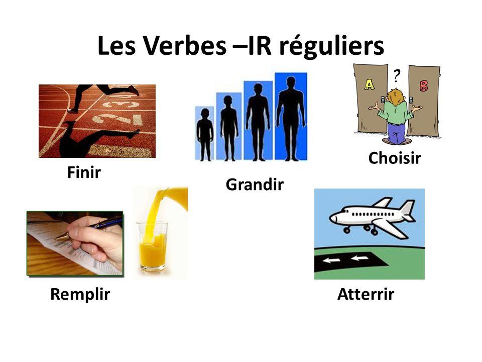 Les Verbes –IR réguliers