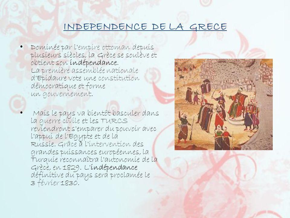 INDEPENDENCE DE LA GRECE