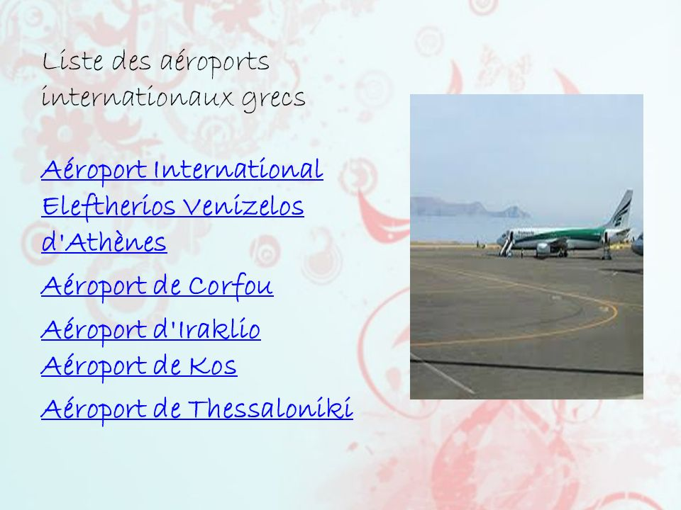 Liste des aéroports internationaux grecs Aéroport International Eleftherios Venizelos d Athènes