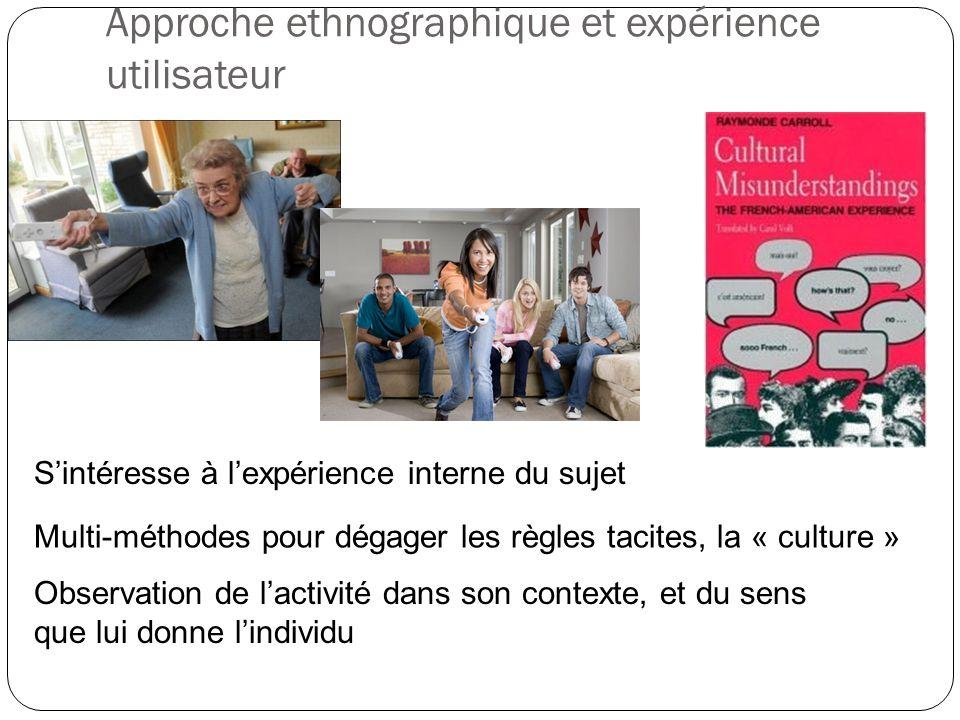 Approche ethnographique et expérience utilisateur