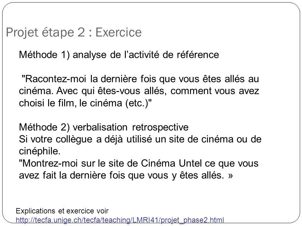 Projet étape 2 : Exercice