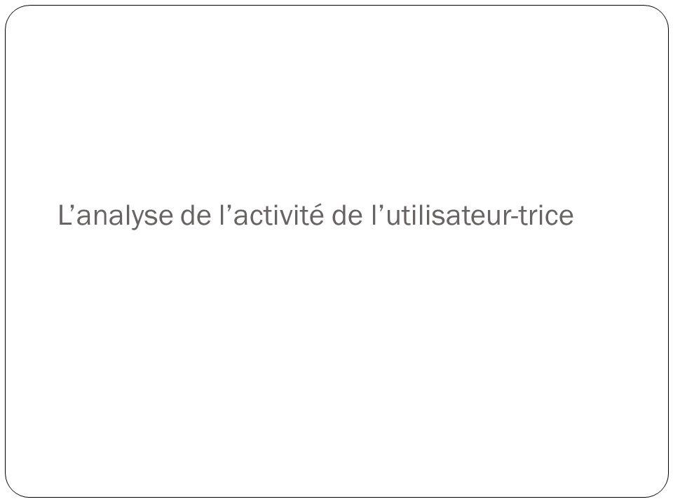 L'analyse de l'activité de l'utilisateur-trice