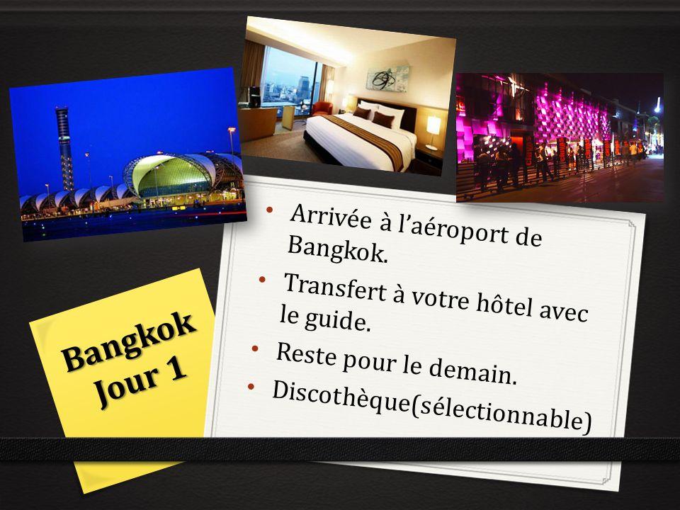 Bangkok Jour 1 Arrivée à l'aéroport de Bangkok.