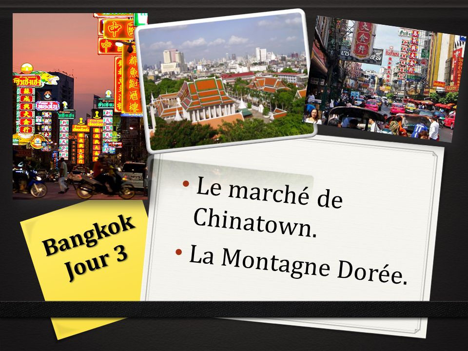 Le marché de Chinatown. La Montagne Dorée.